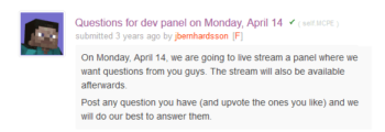 Q&A for MCPE 0.9 on r/MCPE