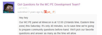 Q&A for Minecon 2015